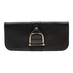 Gucci Black Leather Greenwhich Clutch