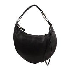 Gucci Black Leather Half Moon Hobo Bag Shoulder Bag Tote