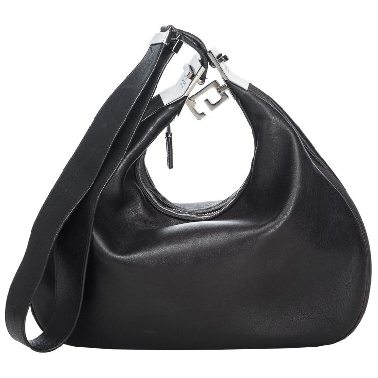 74521d48 Gucci Black Leather Hobo Bag Italy w/ Dust Bag