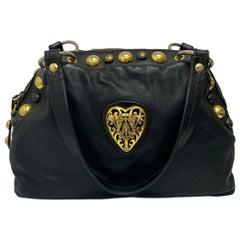 Gucci Black Leather Hysteria Bag