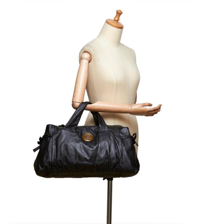 Gucci Black Leather Hysteria For Sale 9