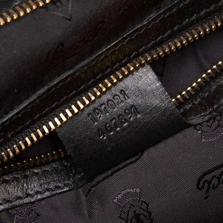 Gucci Black Leather Hysteria For Sale 3