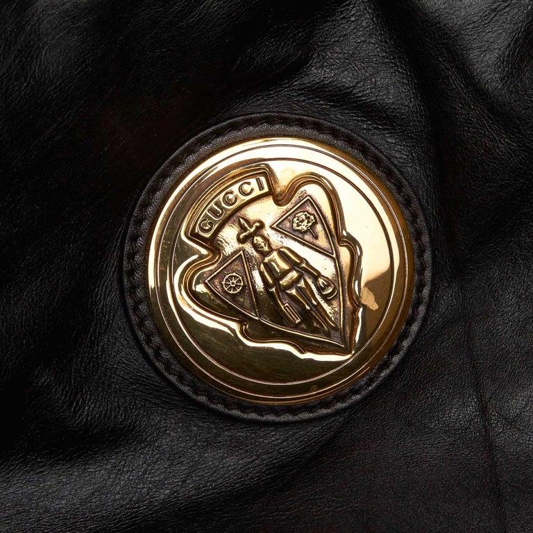 Gucci Black Leather Hysteria For Sale 4