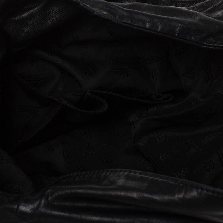 Gucci Black Leather Hysteria Hobo For Sale 6