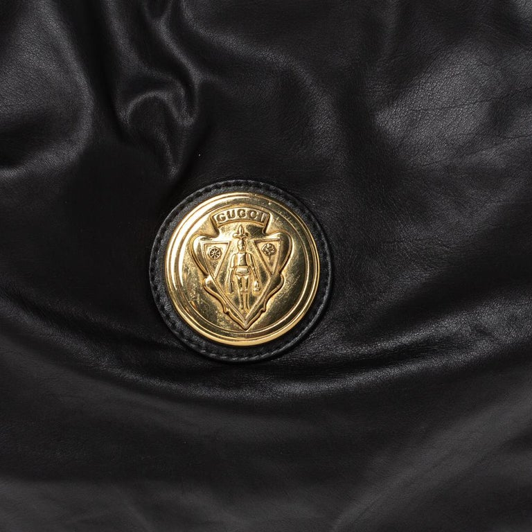 Gucci Black Leather Hysteria Hobo For Sale 7