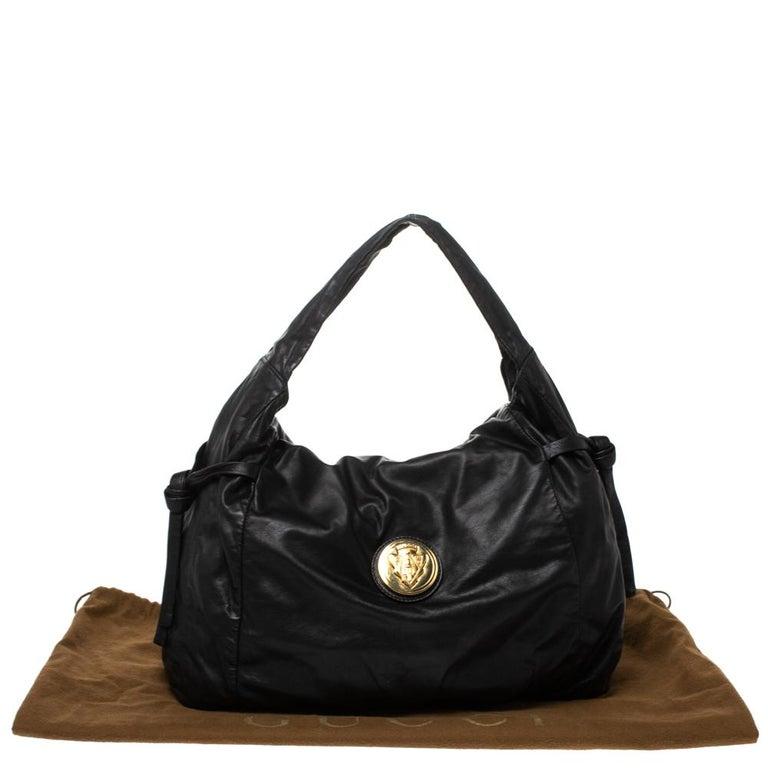 Gucci Black Leather Hysteria Hobo For Sale 8