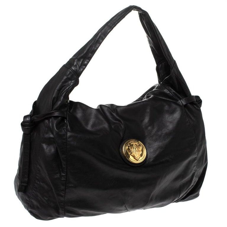 Women's Gucci Black Leather Hysteria Hobo For Sale