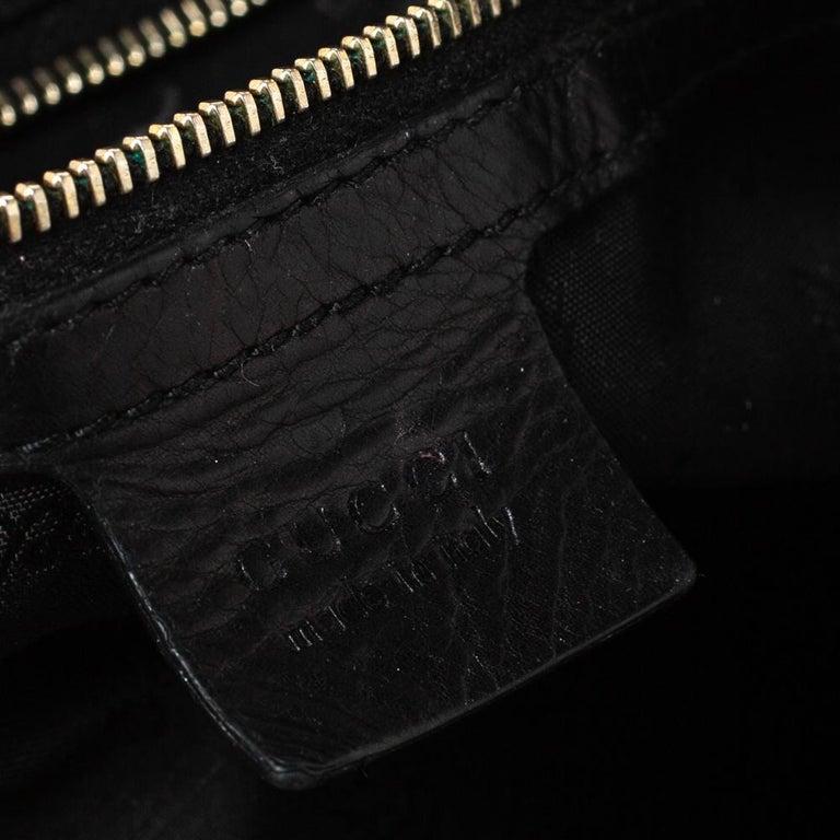 Gucci Black Leather Hysteria Hobo For Sale 2