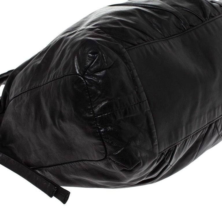 Gucci Black Leather Hysteria Hobo For Sale 4