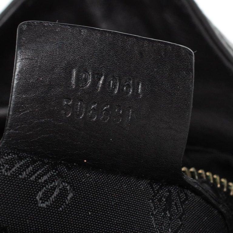 Gucci Black Leather Hysteria Hobo For Sale 5