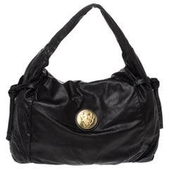 Gucci Black Leather Hysteria Hobo