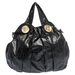 Gucci Black Leather Hysteria Hobo