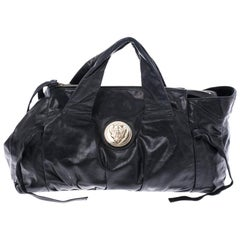 Gucci Black Leather Hysteria Satchel