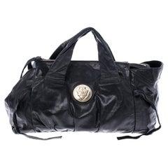 Gucci Black Leather Hysteria Satchel