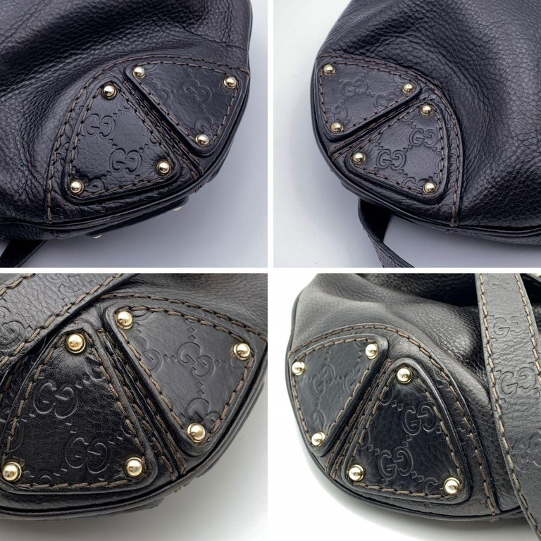 Gucci Black Leather Indy Hobo Bag Handbag with Tassels 3