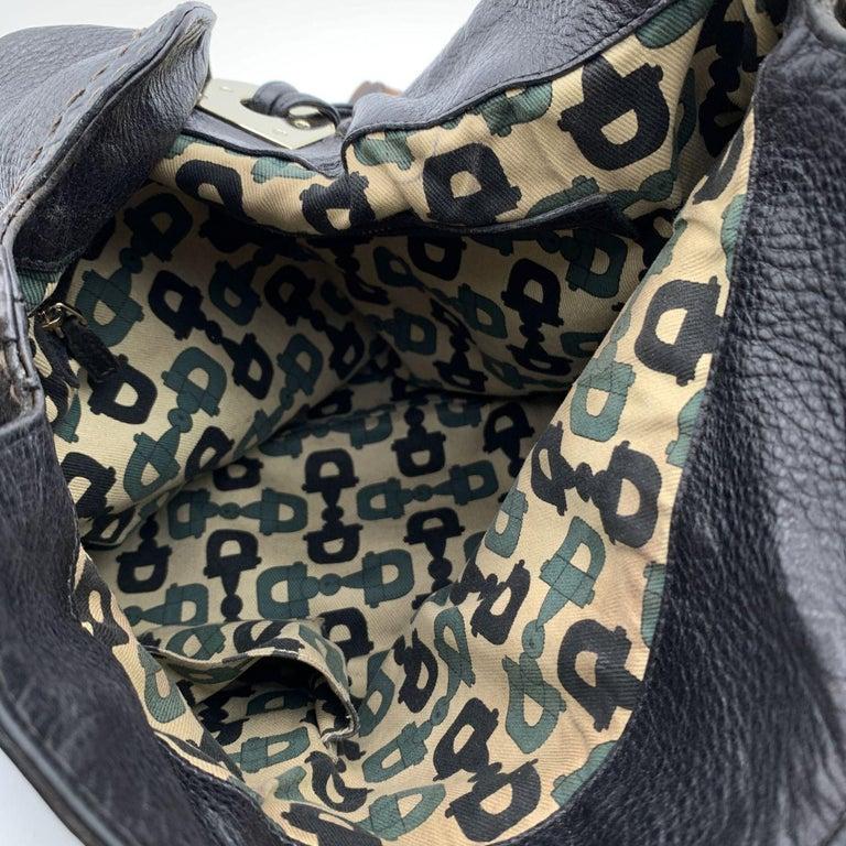 Gucci Black Leather Indy Hobo Bag Handbag with Tassels 5