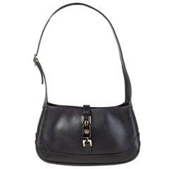 GUCCI black leather JACKIE O MINI Shoulder Bag