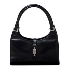 Gucci Black Leather Jackie O Tote