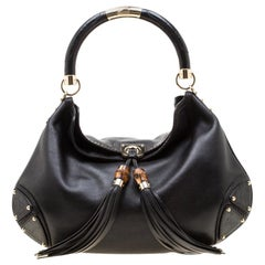 Gucci Black Leather Large Babouska Hobo