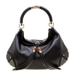 Gucci Black Leather Large Babouska Hobo