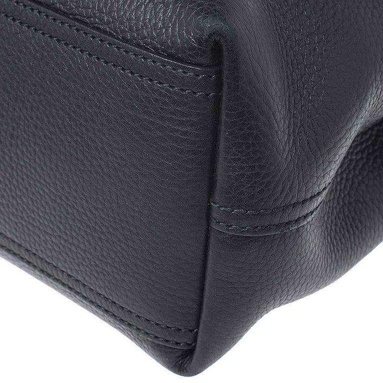 Gucci Black Leather Large GG Marmont Shoulder Bag 1