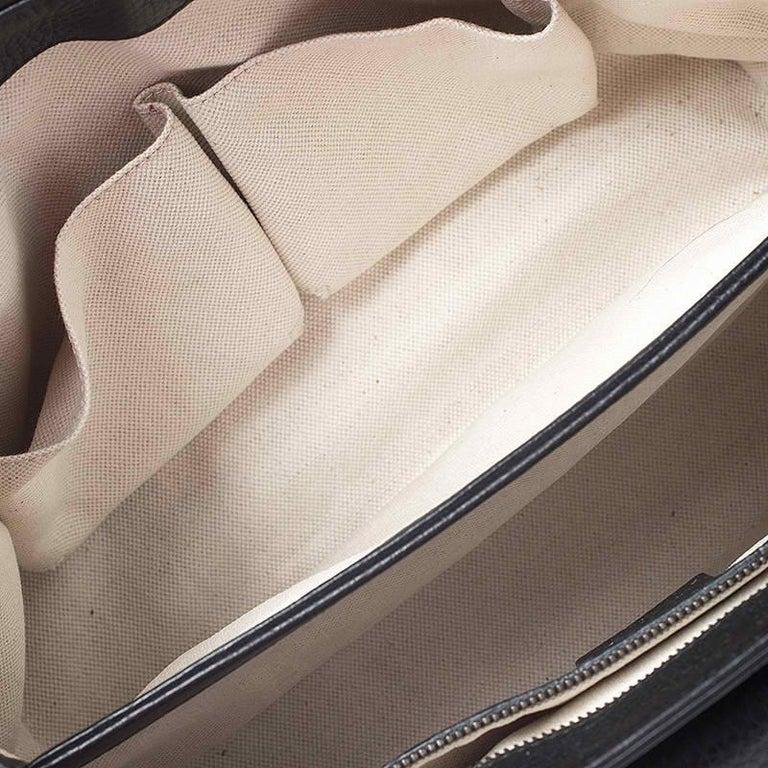 Gucci Black Leather Large GG Marmont Shoulder Bag 2