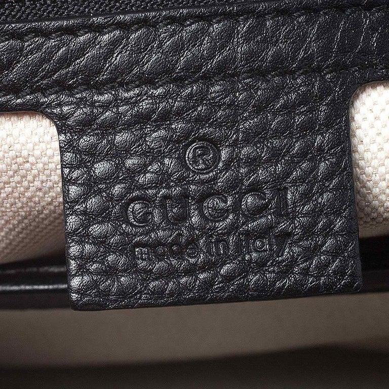 Gucci Black Leather Large GG Marmont Shoulder Bag 3