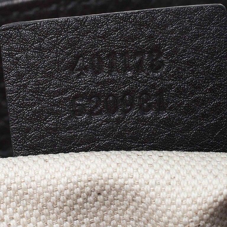 Gucci Black Leather Large GG Marmont Shoulder Bag 4