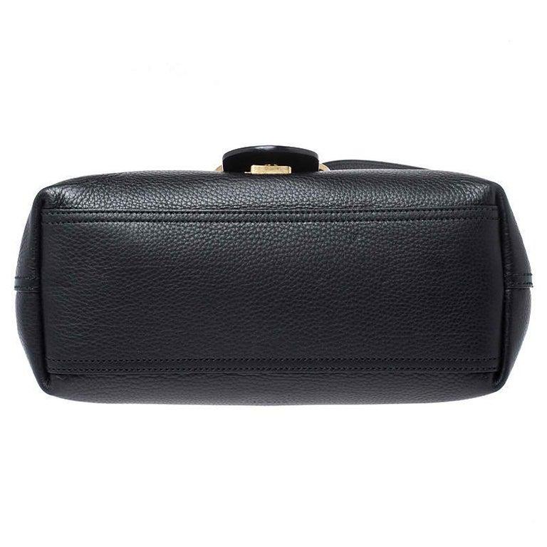 Gucci Black Leather Large GG Marmont Shoulder Bag 5