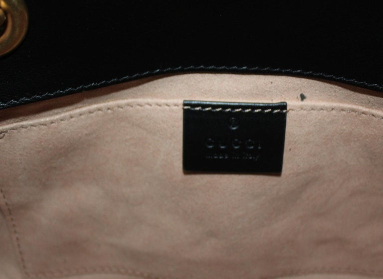 Gucci Black Leather Marmont Bag  For Sale 3