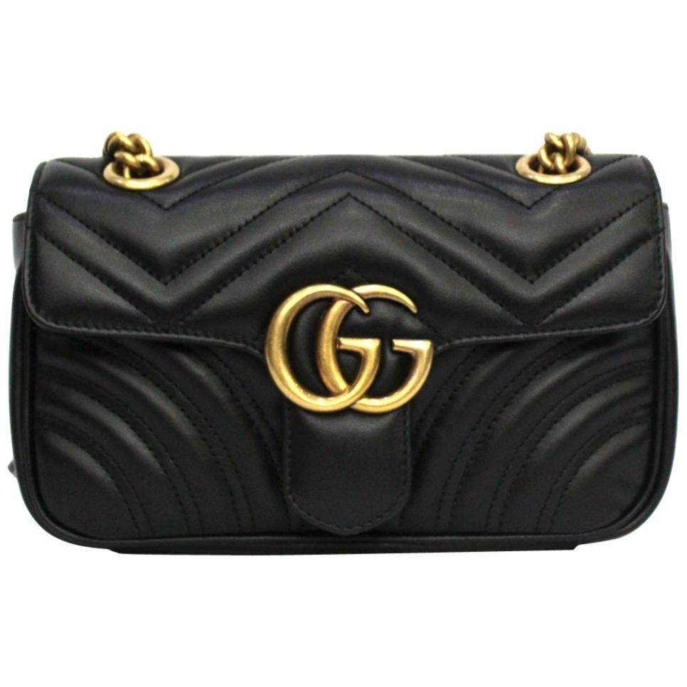 Gucci Black Leather Marmont Bag