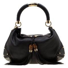 Gucci Black Leather Medium Babouska Indy Hobo