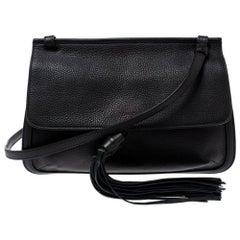 Gucci Black Leather Medium Bamboo Daily Crossbody Bag