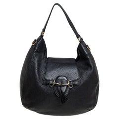 Gucci Black Leather Medium Emily Hobo