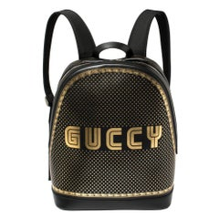 Gucci Black Leather Medium Guccy Magnetismo Backpack