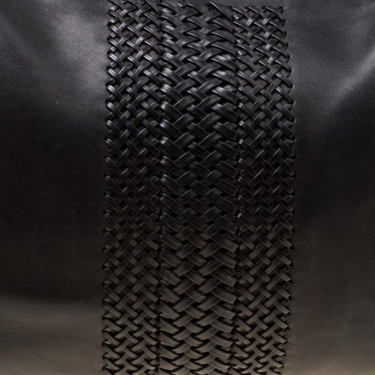 Gucci Black Leather Medium Handmade Shoulder Bag For Sale 7