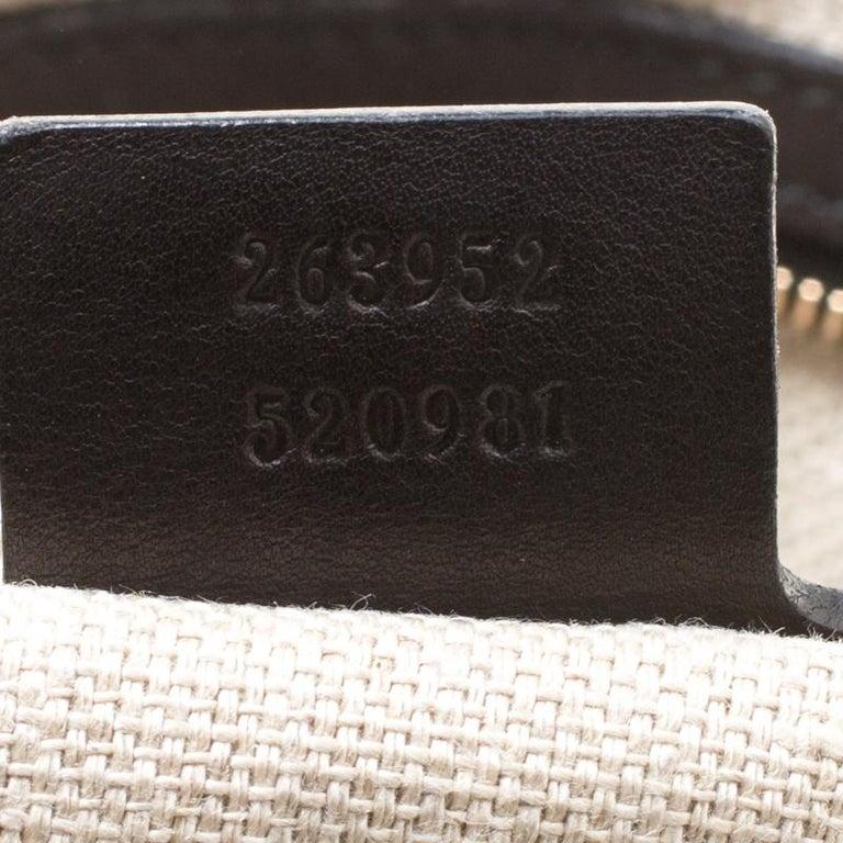 Gucci Black Leather Medium Handmade Shoulder Bag For Sale 1