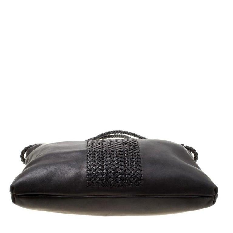 Gucci Black Leather Medium Handmade Shoulder Bag For Sale 2