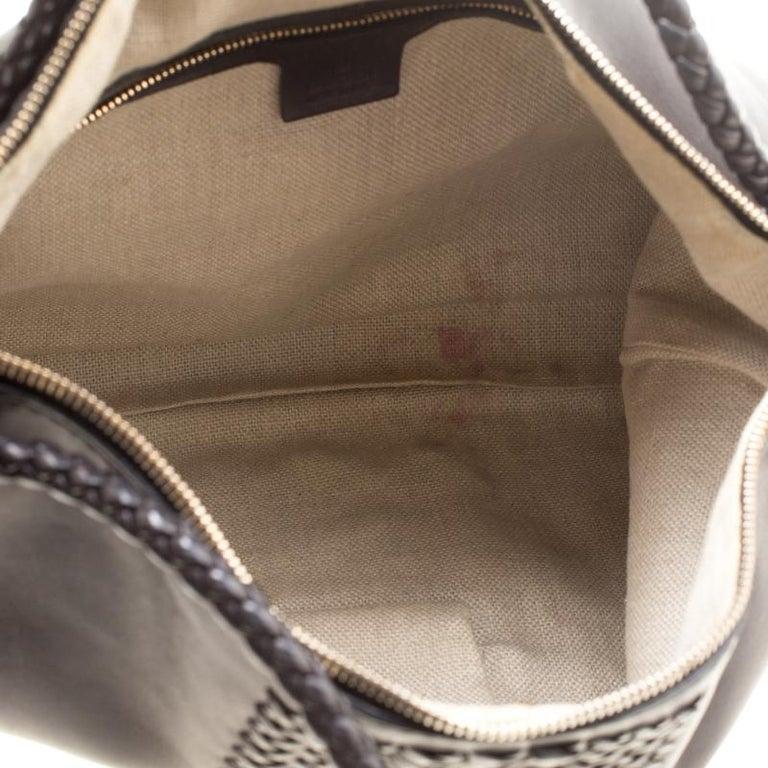Gucci Black Leather Medium Handmade Shoulder Bag For Sale 4
