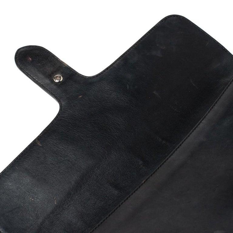 Gucci Black Leather Medium Interlocking GG Shoulder Bag For Sale 7