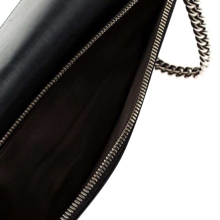Gucci Black Leather Medium Interlocking GG Shoulder Bag For Sale 1
