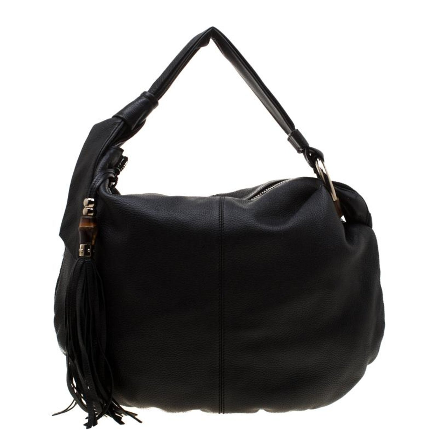 1a382381b Gucci Black Leather Medium Jungle Hobo For Sale at 1stdibs