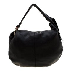 Gucci Black Leather Medium Jungle Hobo