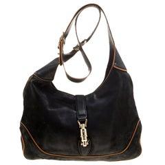 Gucci Black Leather New Jackie Shoulder Bag