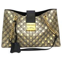 Gucci Black Leather Padlock  Bag