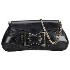 Gucci Black  Leather Queen Baguette Italy