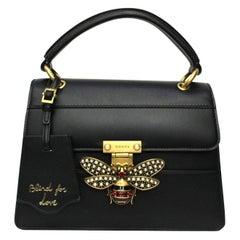 Gucci Black Leather Queen Margaret Bag