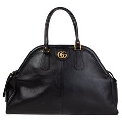 GUCCI black leather RE(BELLE) LARGE Shoulder Bag rebelle