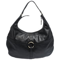 Gucci Black Leather Reins Hobo