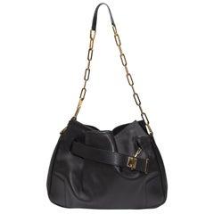 Gucci Black Leather Shoulder Bag